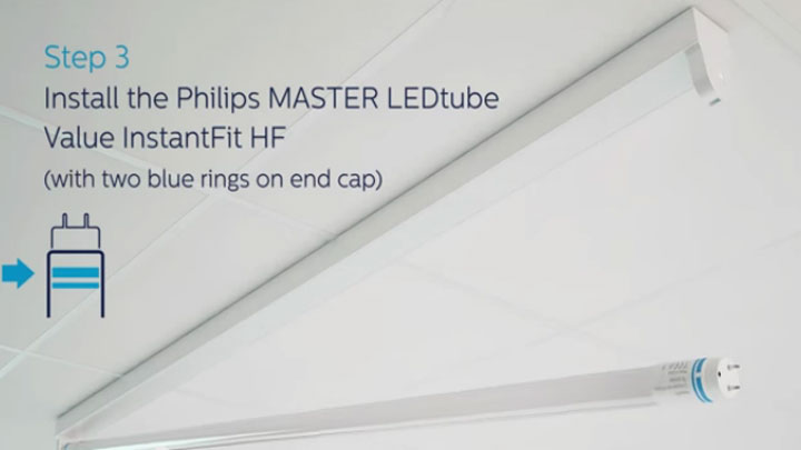 Installation guide for Philips Master Led tube based on High Frequence Electronic Ballast(HF)