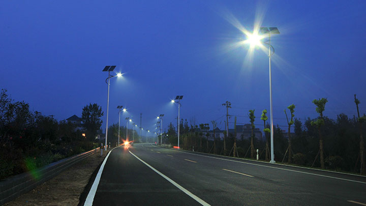 Solar powered street lighting - solar outdoor lighting