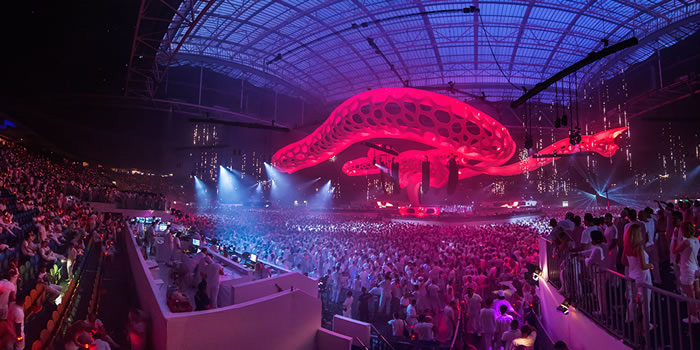 Livingprojects create a unique stage at Sensation, Amsterdam