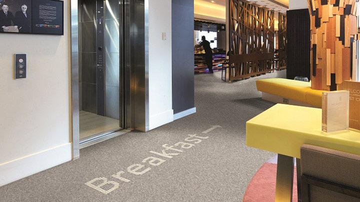 Luminous Carpets help visitors find their way around - improve guest experience